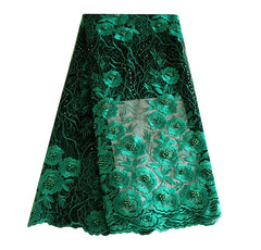 african beaded lace fabric nigerian lace 690 green