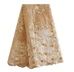 african beaded lace fabric nigerian lace 690 nude