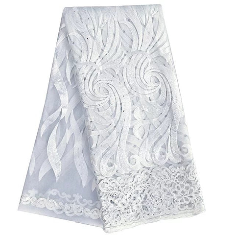 White African Lace fabric Wedding Dresses