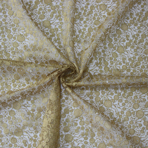 african lace fabric yellow