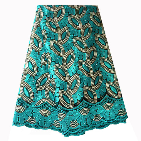 african lace fabric nigerian lace 732 aqua