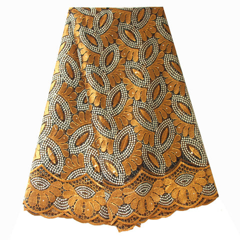 african lace fabric nigerian lace 732 gold