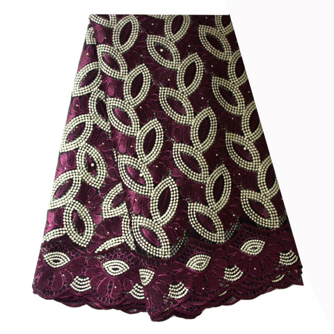 african lace fabric nigerian lace 732 purple