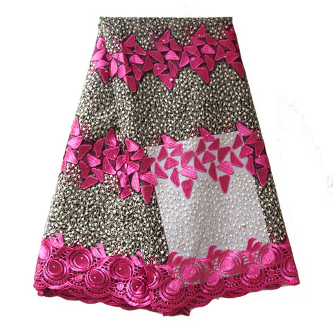 african lace fabric rose