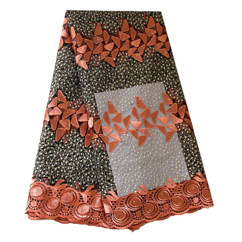 african lace fabric peach