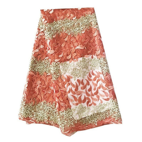 african lace fabric nigerian lace peach