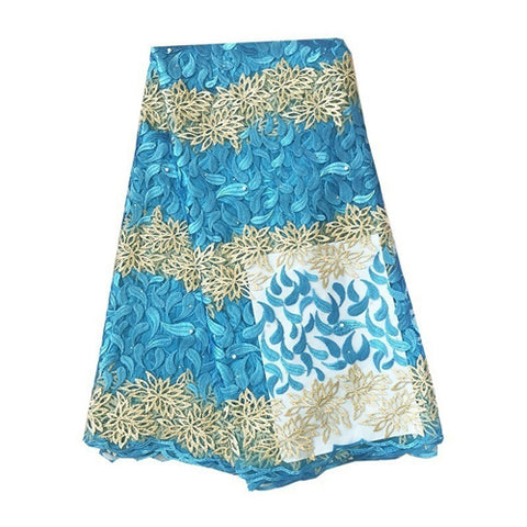african lace african nigerian lace sky blue