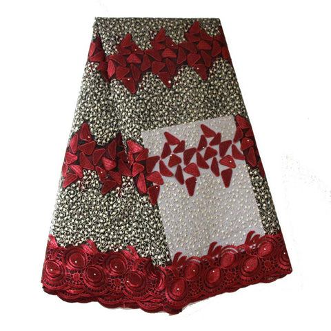 african lace fabric wine