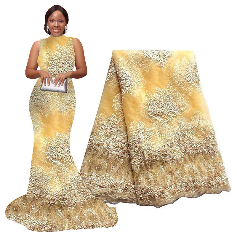 African Lace Fabric | african wedding dresses | pqdaysun lace fabric F50343
