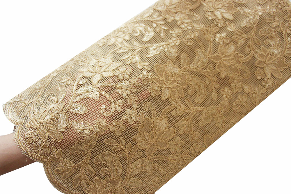 African Sequins Lace Fabric 5 yards F50632