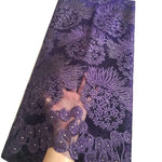African Lace Fabric | Nigerian Lace Fabric Nigerian Net Lace | Solid Color 5 yards F50614 pqdaysun