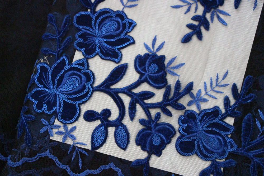 African Velvet Lace Fabric F50220