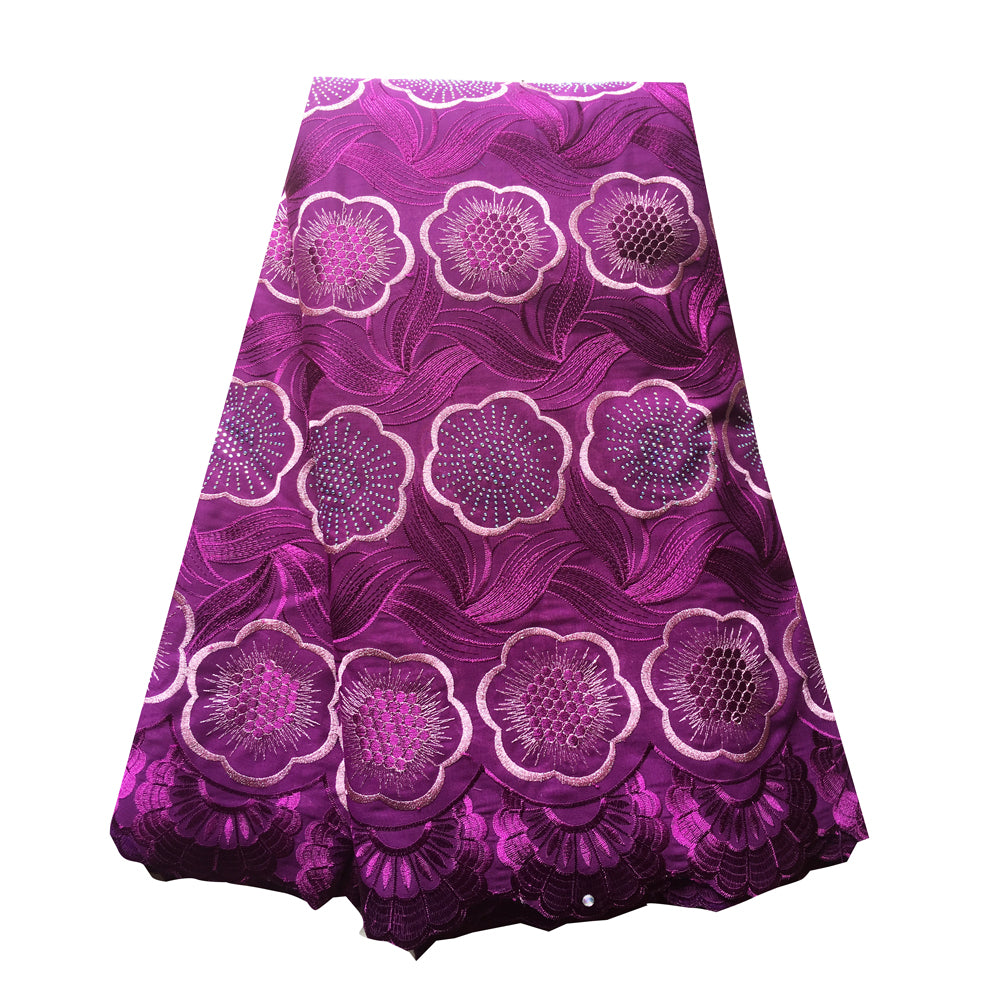 African Lace Fabric  | Swiss voile Lace purple | pqdaysun lace fabric 5 yards