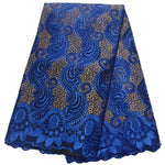 blue lace fabric 2019 high quality lace nigerian lace fabric for women dress african tulle lace with stones 5yards per piece