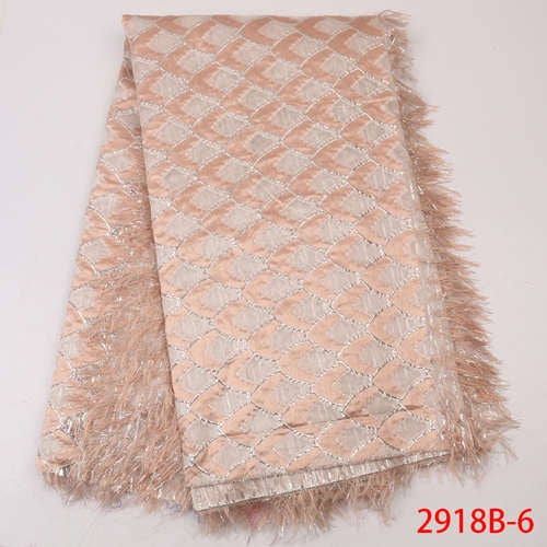 Most Popular Brocade Lace Fabric 2019 High Quality African Jacquard Lace Nigeria Lace Fabric For Women Party Dresses GD2918B-8