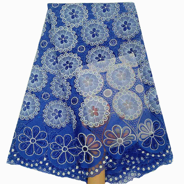 nigerian latest lace fabric 2019 high quality lace nigerian french tulle lace with stones blue african lace for party