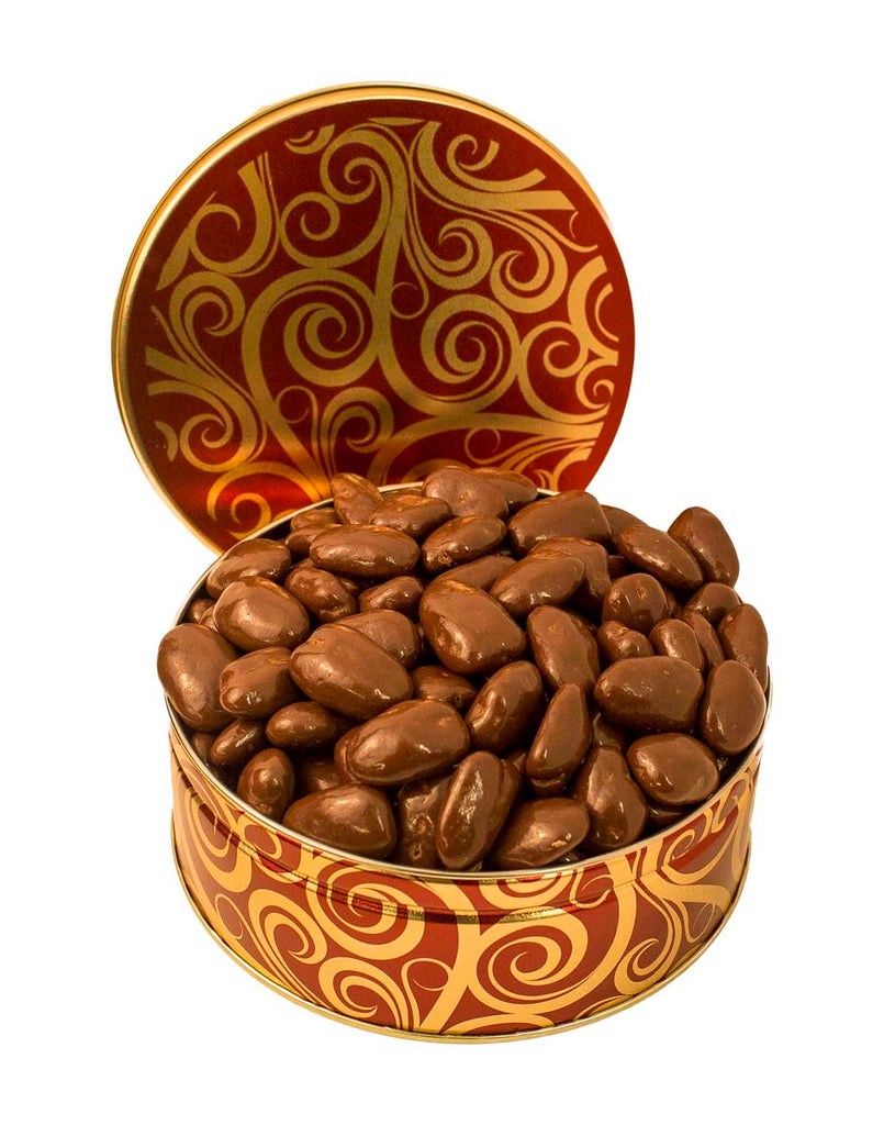 JR GIFT TIN MILK CHOCOLATE COVERED PECANS