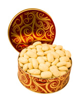 WHITE CHOCOLATE COVERED PECAN GIFT TIN
