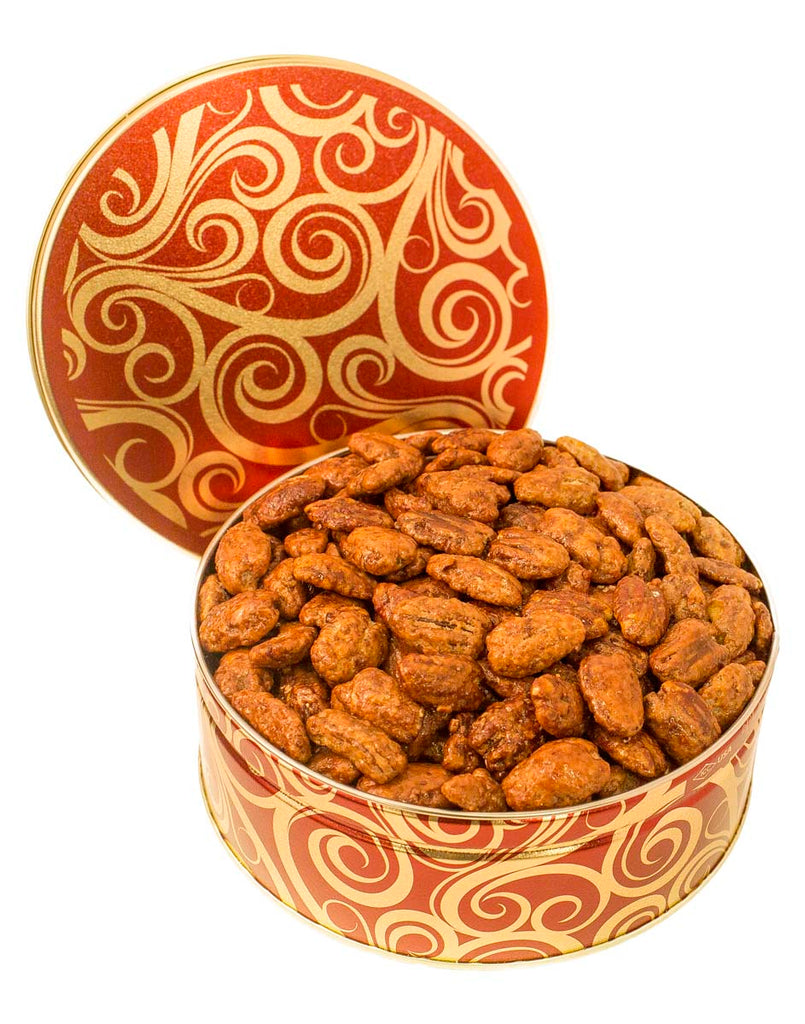 JR GIFT TIN HONEY GLAZED PECANS