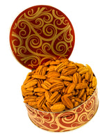 JR GIFT TIN MAMMOTH PECAN HALVES