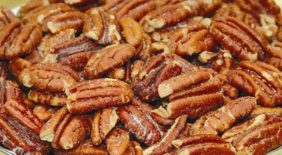 ROASTED and SALTED MAMMOTH PECAN HALVES