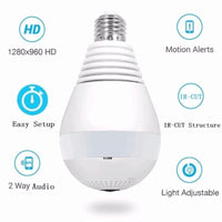 LED Bulb Light Panoramic  IP Camera Smart Home