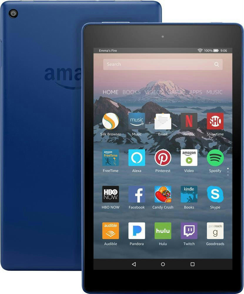 Amazon Fire HD 7 (7th Generation) 16 GB, Wi-Fi, 8In - Marine Blue with Alexa