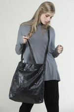 Oversize black vegan shoulder fabric tote bag, Lightweight Shoulder Cross body handbag