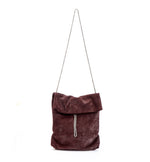 Bordeaux Evening Elegant metal chain Bag, Medium size everyday handbag Purse