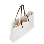 Tall Oversize White Canvas Tote Bag