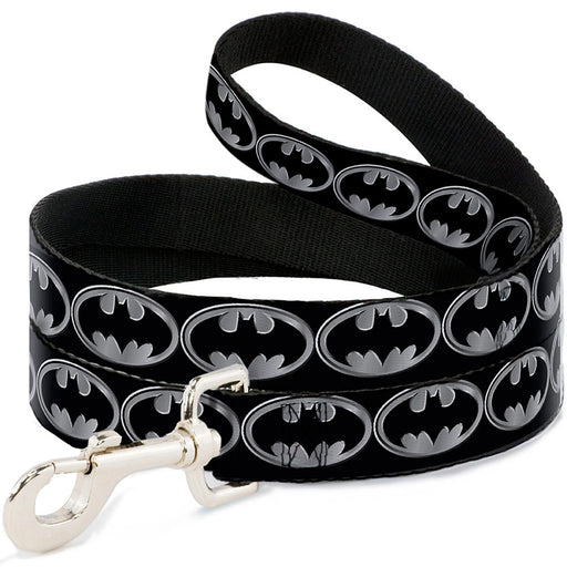 Batman Shield Dog Lead, Black and Silver