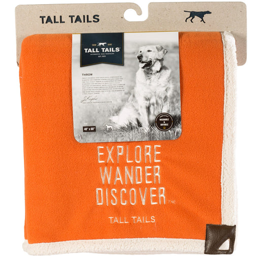 Heavy Fleece Blanket, Explore Orange