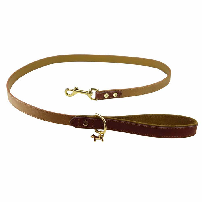 Leather Lead, Camel-hazelnut