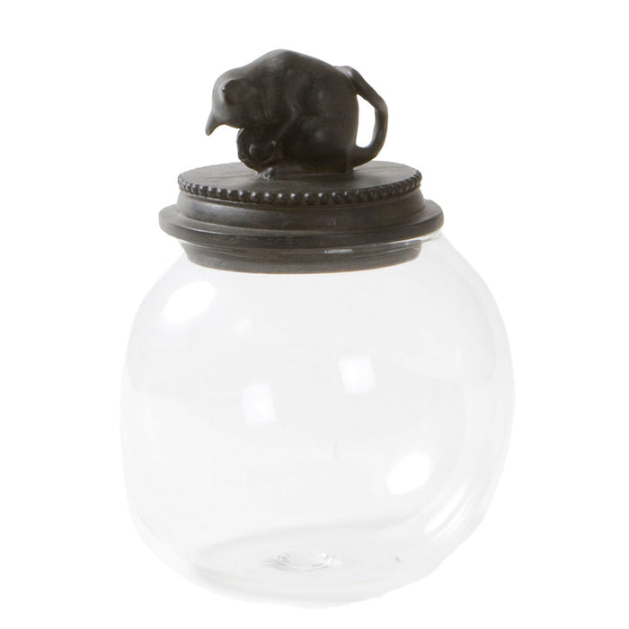 Glass Cat Jar