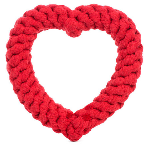 Heart Rope Toy, Red 7""