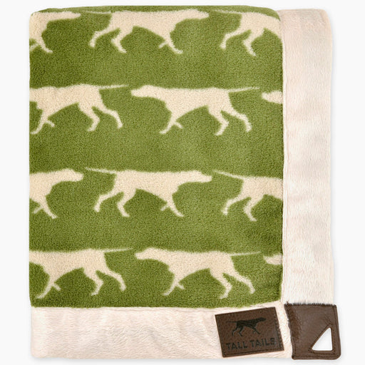 Fleece Throw, Sage Icon Print