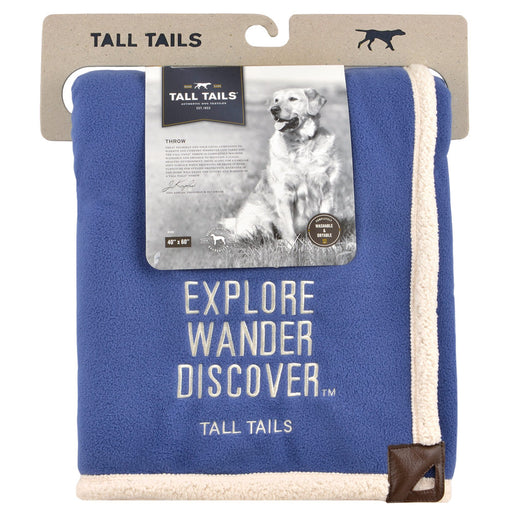 "Heavy Fleece Throw, Blue Explorer (40"" x 60"")"
