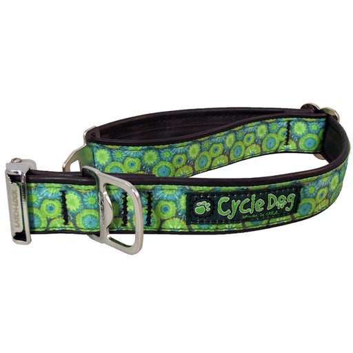Eco-Dog Collar, Teal Blue Tie Dye