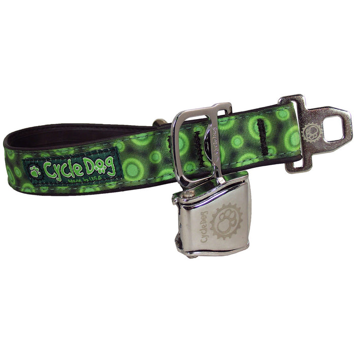 Eco-Dog Collar, Green Space Dots