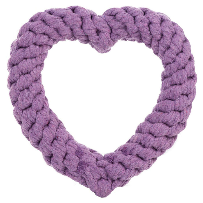 Heart Rope Toy, Purple 7""