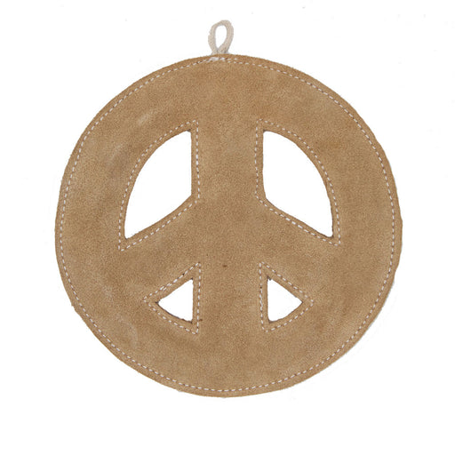 Leather Dog Toy - Peace Tug