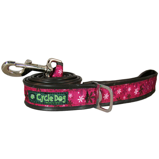 Eco-Dog Lead, Hot Pink Retro Flowers