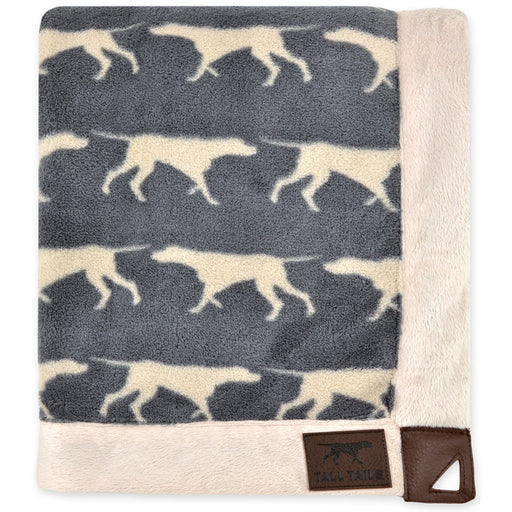 Fleece Blanket, Charcoal Icon Print