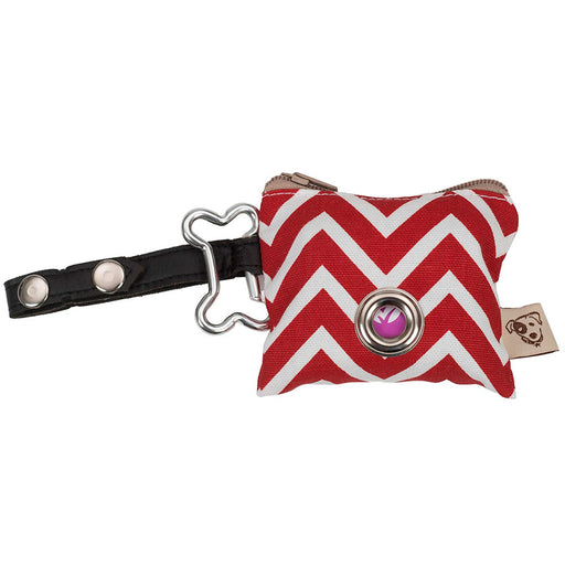 P.U.P Bag (Poo Bags dispenser), ZigZag Red