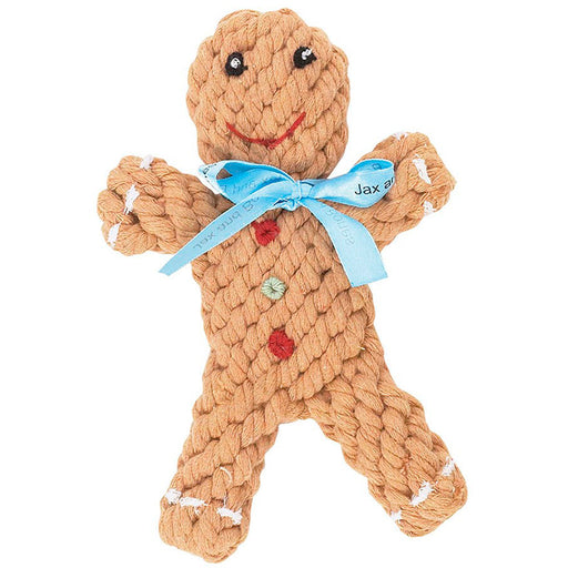 Gingerbread Man Rope Toy 6""
