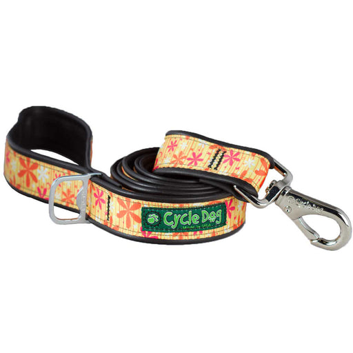 Eco-Dog Lead, Yellow Retro Flowers