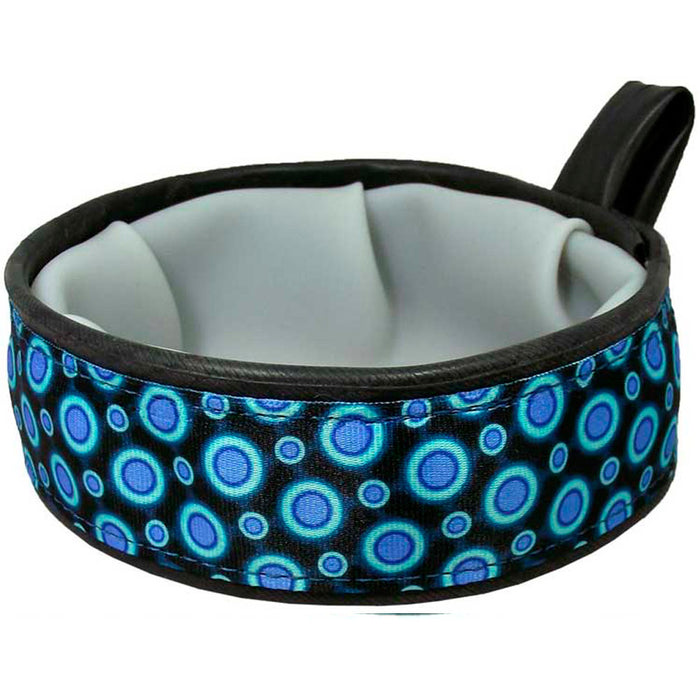 Eco-Dog Trail Buddy Bowl, Blue Space Dots