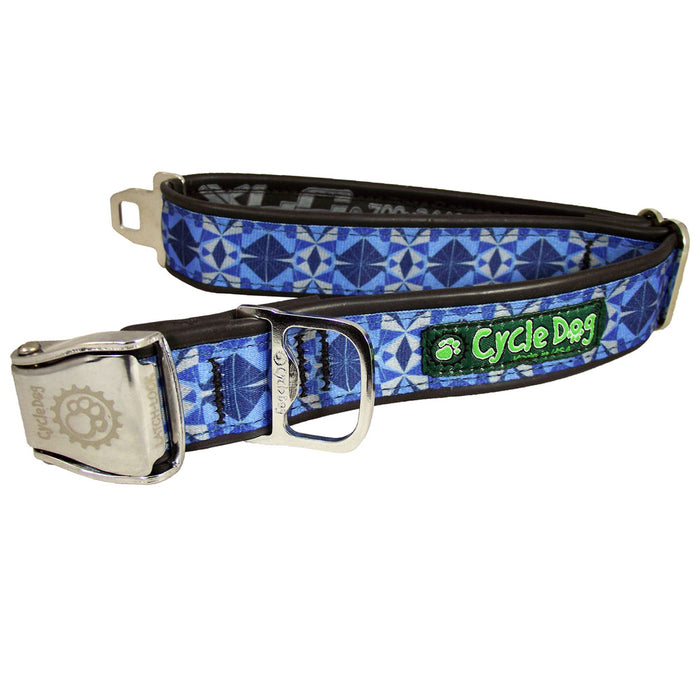 Eco-Dog collar, Blue Kaleidoscope