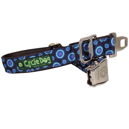 Eco-Dog Collar, Blue Space Dots