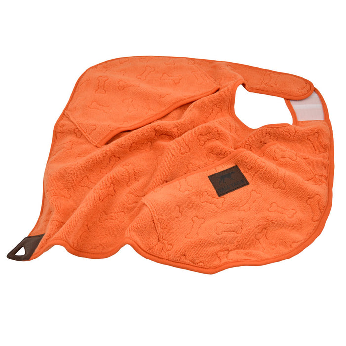 Cape Towel, Orange and Bone